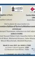 « Ecrire la Méditerranée »  rencontre littéraire