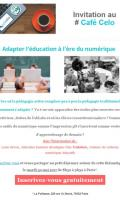 [Café Celo] Adapter l'éducation à l'ère du numérique