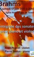 Intégrale des sonates pour piano et violon de Brahms