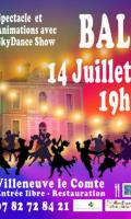 Bal du 14 juillet à Villeneuve-le-Comte