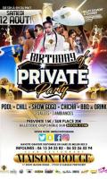 Private pool party