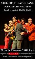 Atelier théâtre pour adultes amateurs Paris 11ème