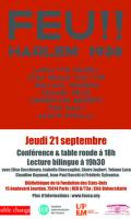 Conférence & lecture Fire!!