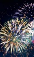 Fête Nationale à Marly Le Roi : feu d'artifice dans le parc