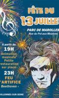 Fête Nationale à Villennes sur Seine : feu d'artifice du 14 juillet