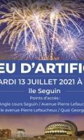 Fête Nationale à Boulogne - 13 juillet - feu d'artifice