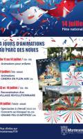 Grand feu d'artifice du 14 juillet à Montereau Fault Yonne