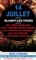 Fête Nationale et feu d'artifice du 14 juillet à Blandy les Tours
