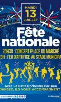 Fête Nationale au Bourget : bal et feu d'artifice