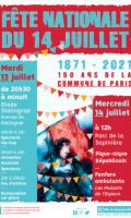 Fête Nationale à Romainville : bal pop, feu d'artifice