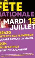 Fête Nationale et Feu d'artifice à Vaujours