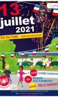 Festivités du 14 juillet à Meulan : feu d'artifice et flambeaux