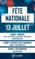 Fête Nationale à Dugny : concert, retraite aux flambeaux et feu d'artifice