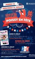 Concert et feu d'artifice du 14 juillet à Poissy