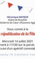 Fête nationale à Breuillet : Cérémonie républicaine et apéritif