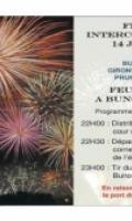 Fête nationale à Buno-Bonnevaux - feu d'artifice
