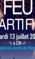 Feu d'artifice du 14 juillet à Noisy Le Grand