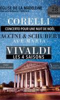 Concerto pour une Nuit de Noël de Corelli / Ave Maria de Caccini & Schubert / Les 4 Saisons de Vivaldi